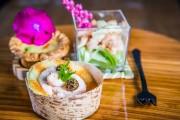 mMiseise-en-bouche crevettes, quiche et verrine